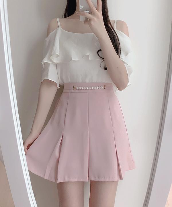 Honey Pearl Belt Skirt Pants