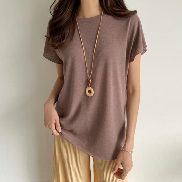 Tone-down linen T-shirt #108317