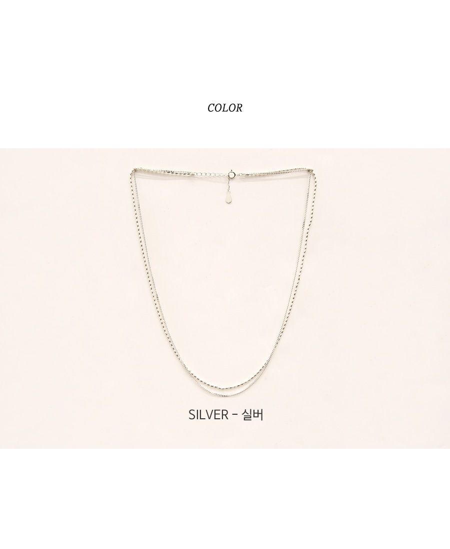 LAYERED 92.5 SILVER NECKLACE