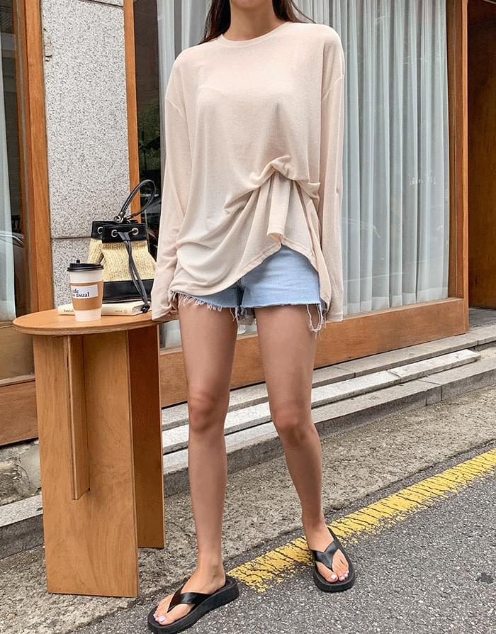 韓國空運 - Back Imloose T-shirt 長袖上衣