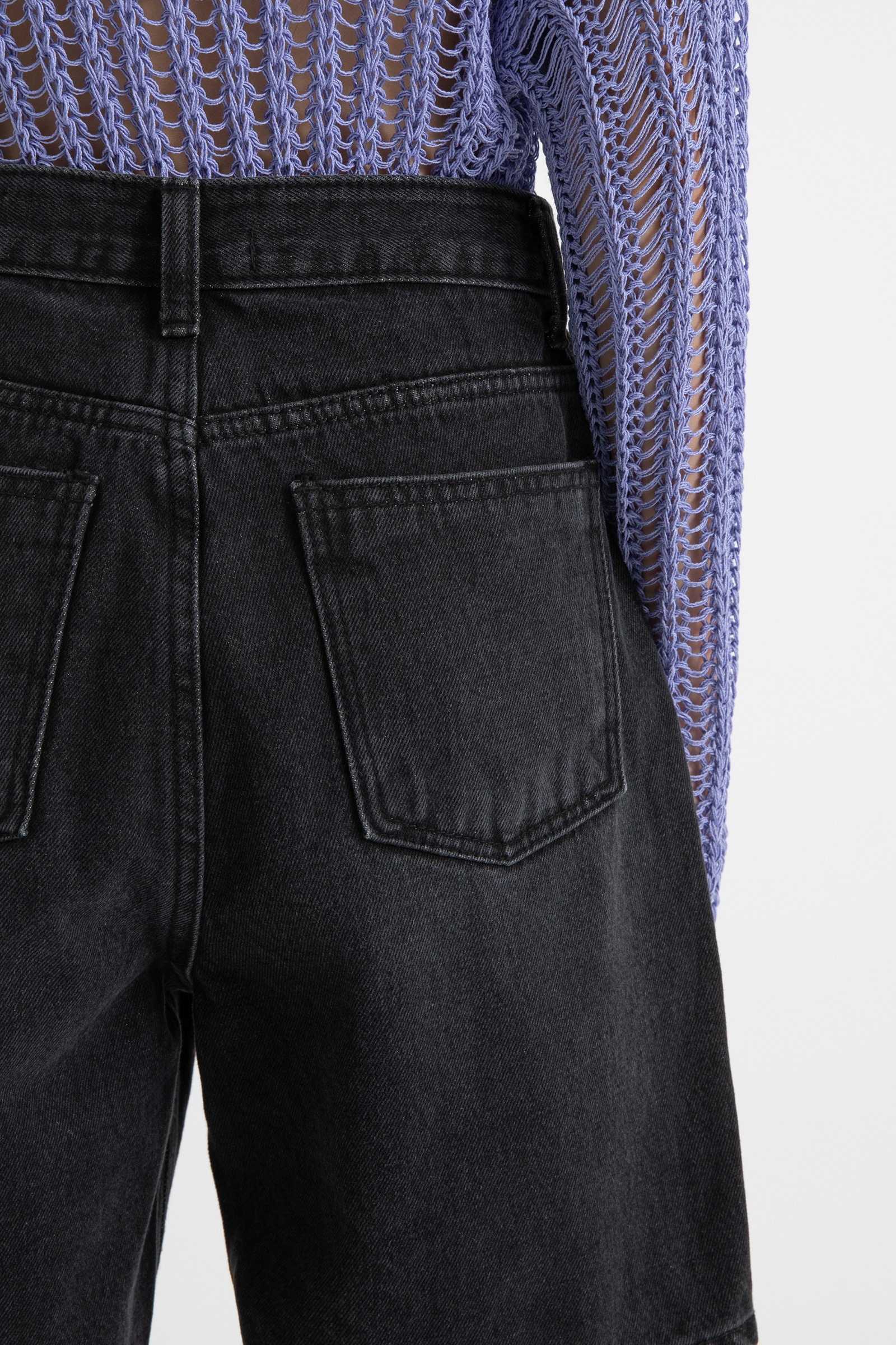 Vibe high-rise half jeans
