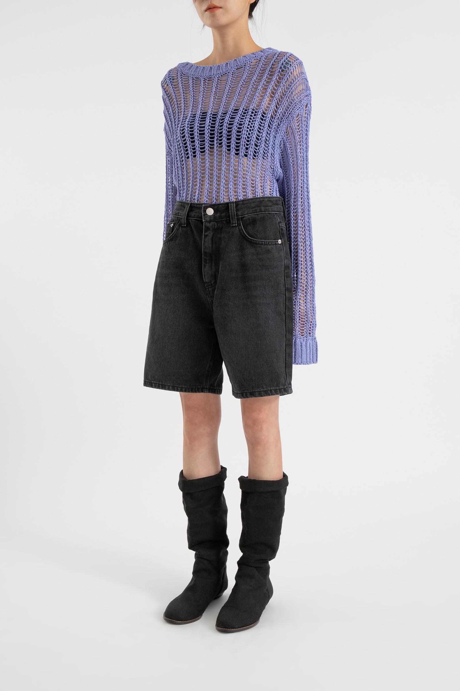 Vibe high-rise half jeans