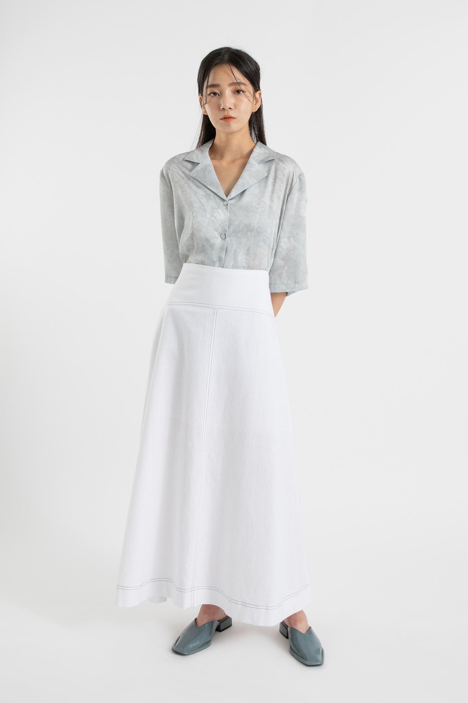 Prom linen stitch maxi skirt