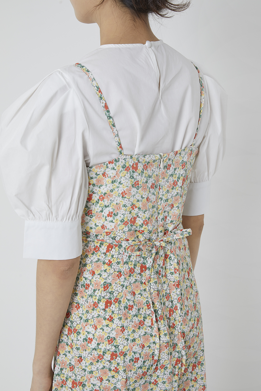Marie front shirring bustier dress