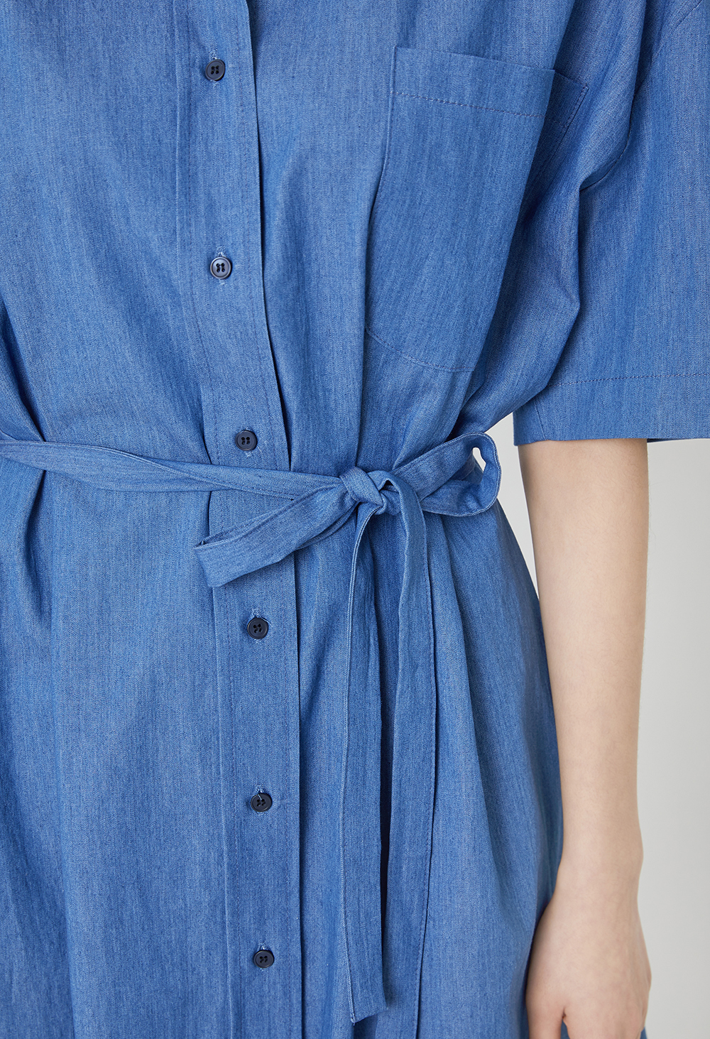Denim shirt long dress