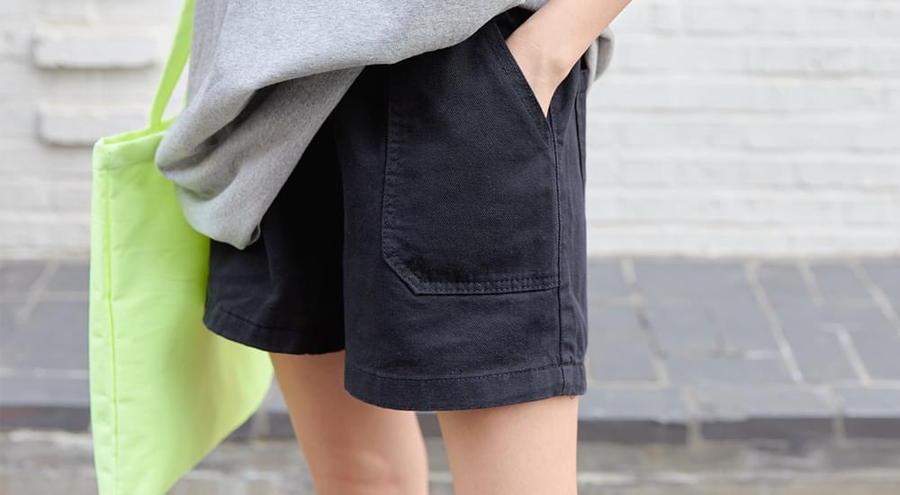 Stitch Big Pocket Banding Short Pants #75334