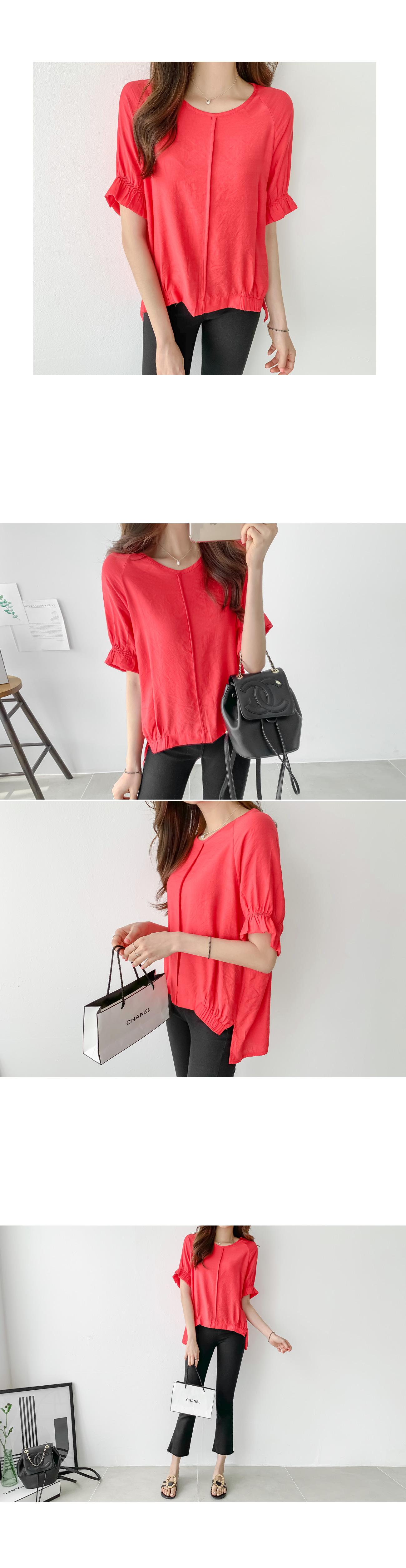 Puff ruffle sleeve blouse #44570