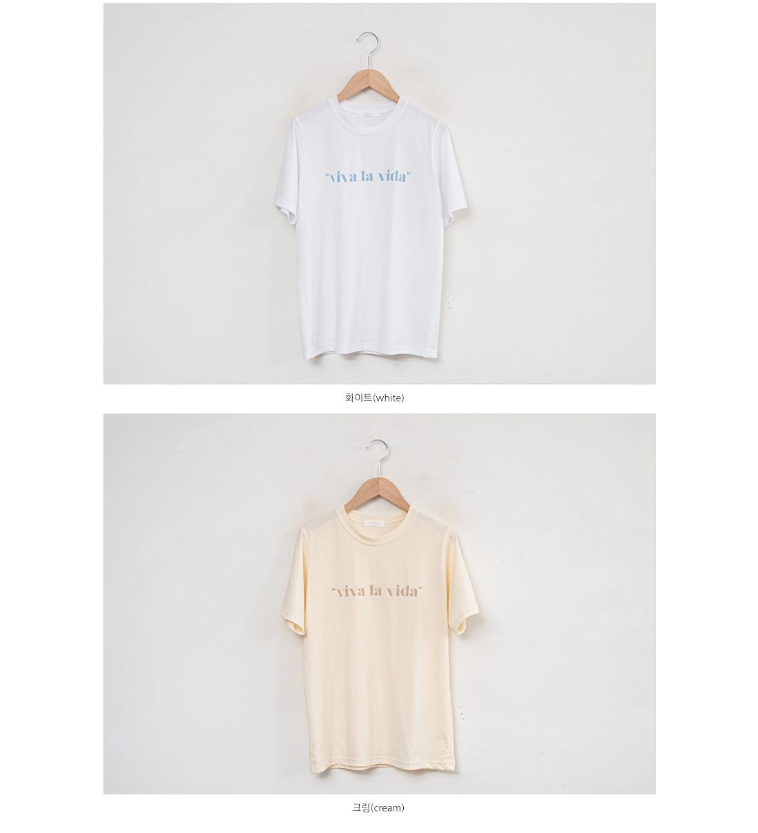 Viva lettering short sleeve t-shirt #108308