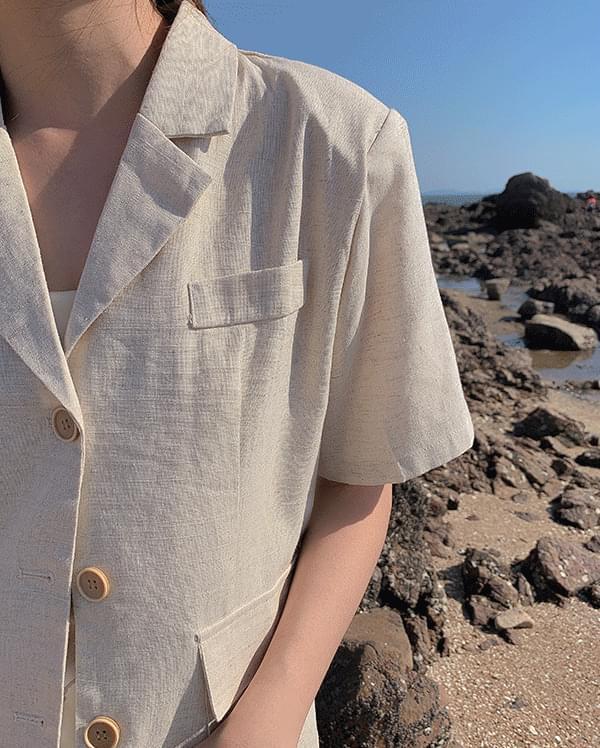 #Any place Dima Basic Linen Jacket