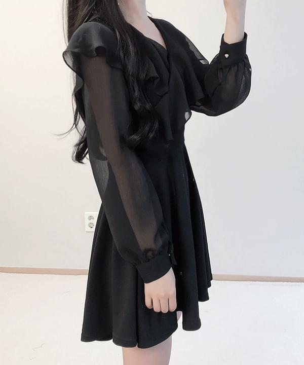 Restock ♥ Black Madonna Ruffle Wraps