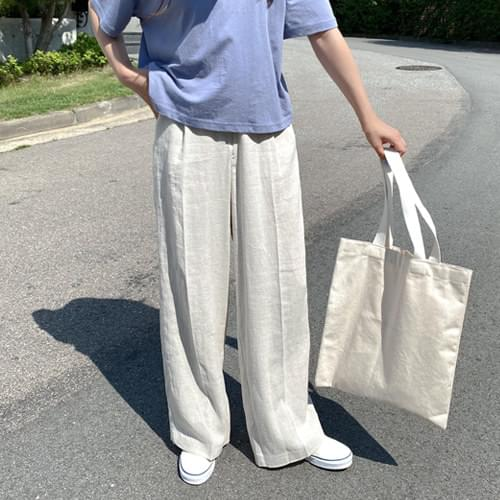 Trudy Linen Pintuck Wide Slacks