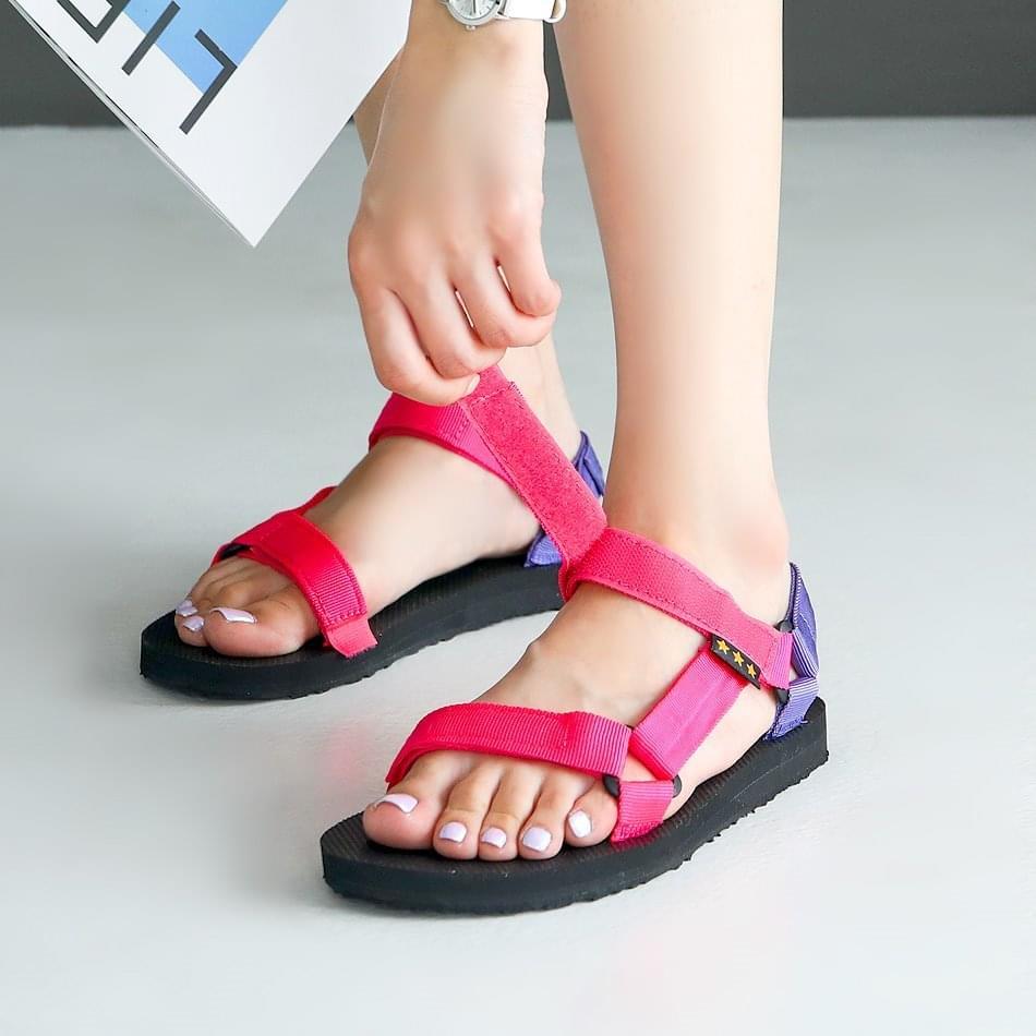 Fate Velcro Strap Sandals 2cm