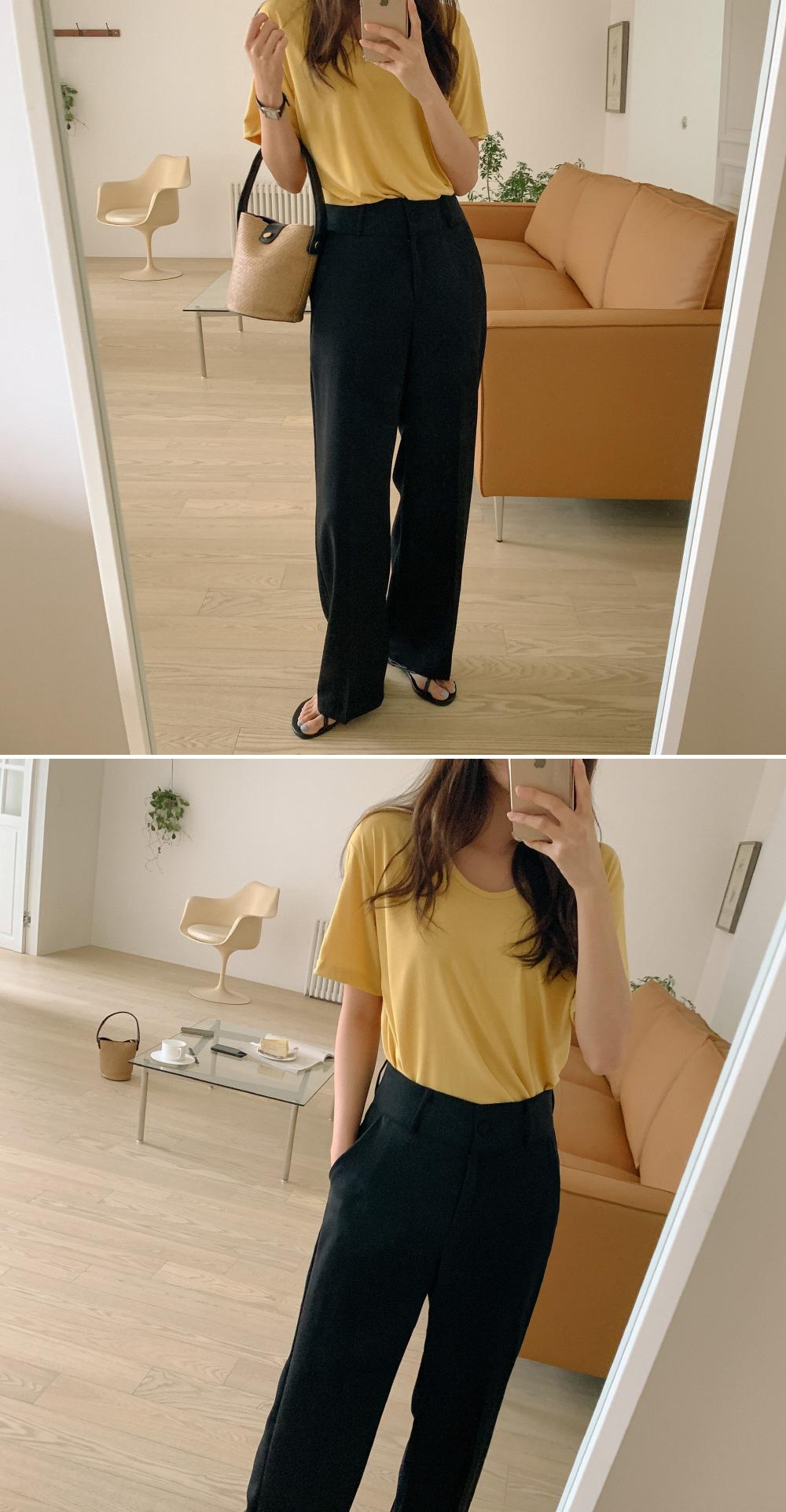 Daily high waist wide slacks