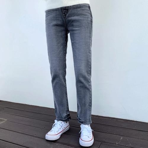 Unique Faded Gray Denim Pants P#YW365 with Hem