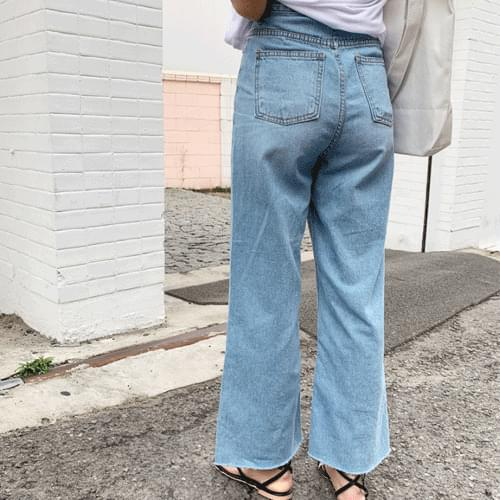 Summer wide long denim pants P#YW309