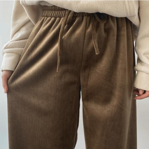 The lining is also brushed too! Velvet Banding Date Wide Pants P#YW112