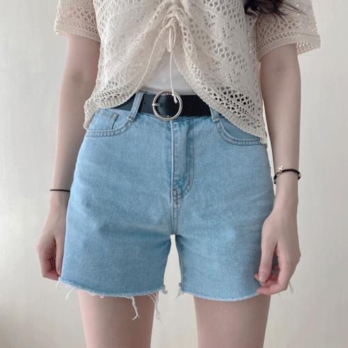3 color denim short pants P#YW483