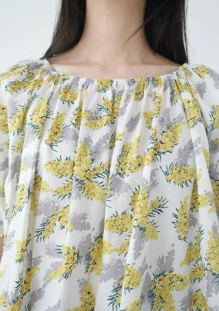 pattern banding blouse