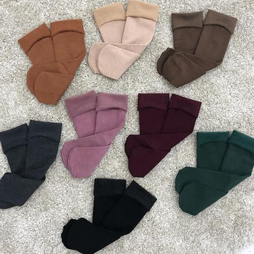 Posong Posong Color Fleece-lined Socks A#5546