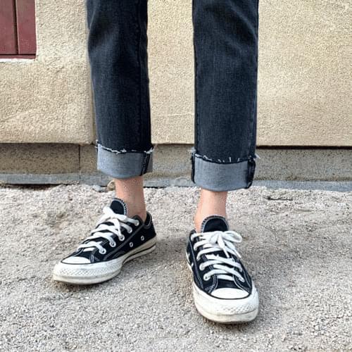 Black Blue Denim Pants P#YW336