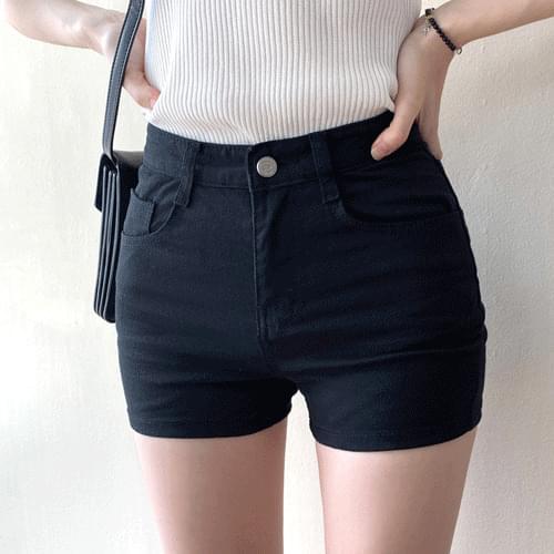 쫀쫀 High waist short pants P#YW440