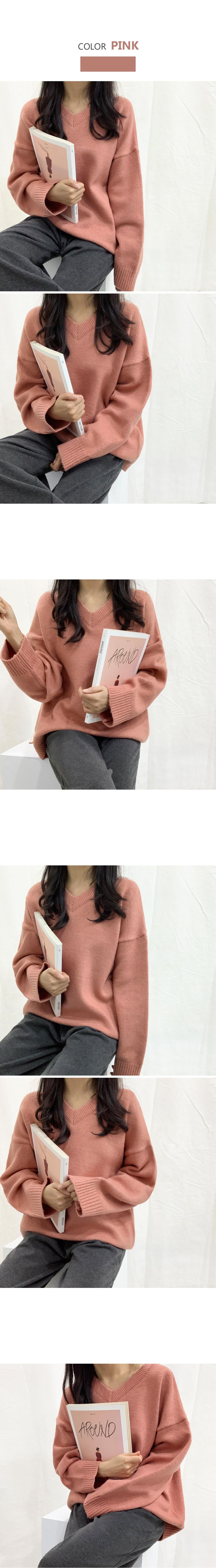 Vanessa V-neck knit T#YW465