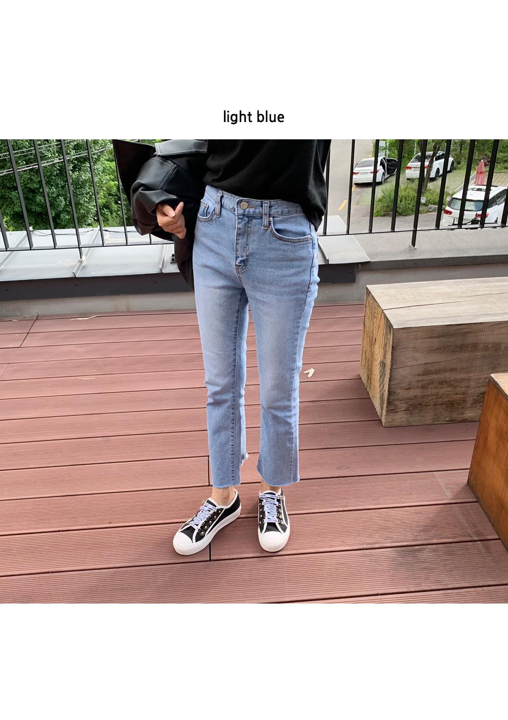 Back point bootcut pants P#YW317