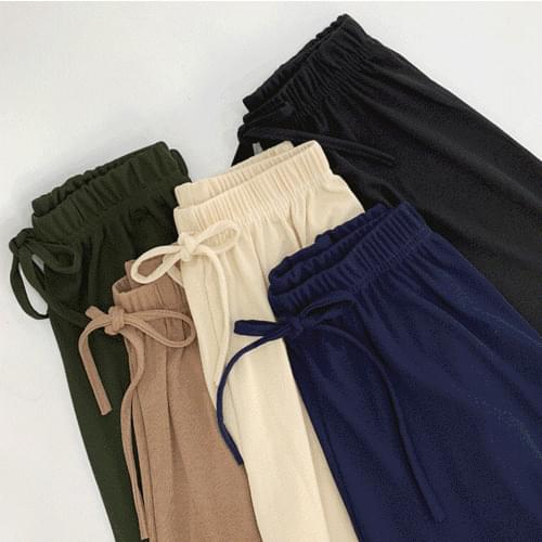 Wide banding pants P#YW319