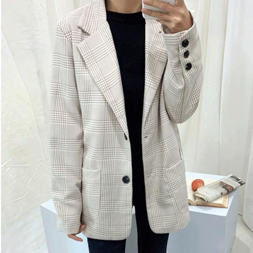 Classic Check Two Button Jacket O#YW103