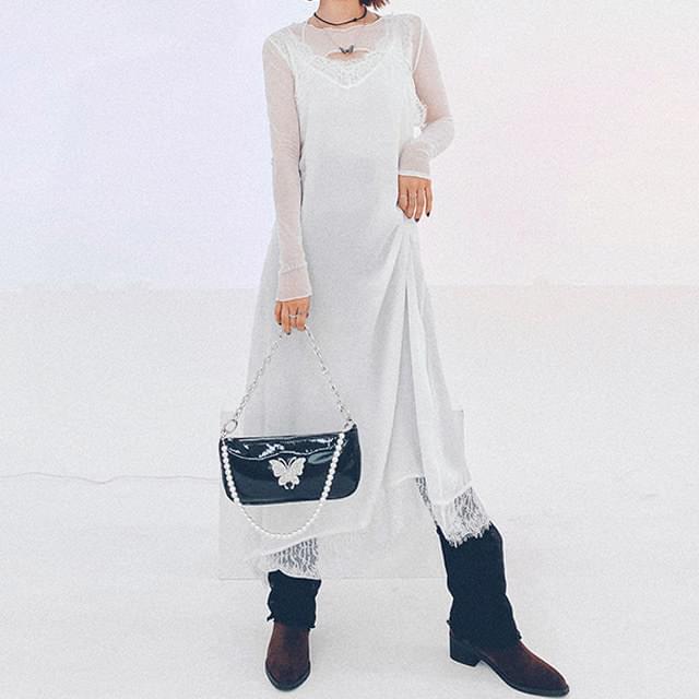 Lace Darby Slip Long Dress