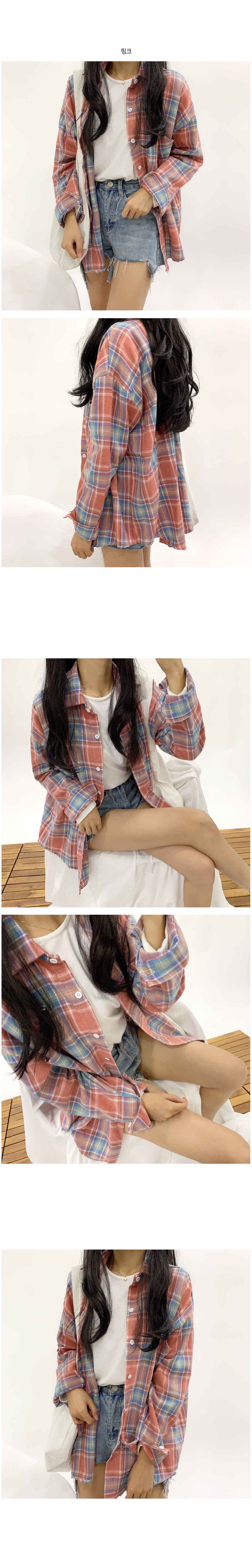 Cotton Candy Check Southern Shirt T#YW144