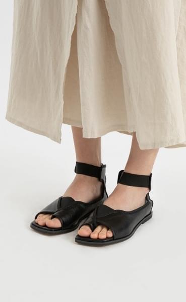 Mood color line flat sandals