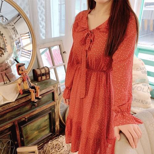 Dot Dress Long Dress T#YW002