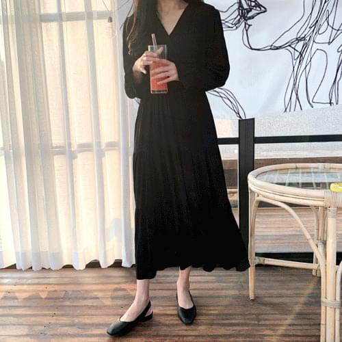 V Neck Romantic Cancan Long Dress T#YW531
