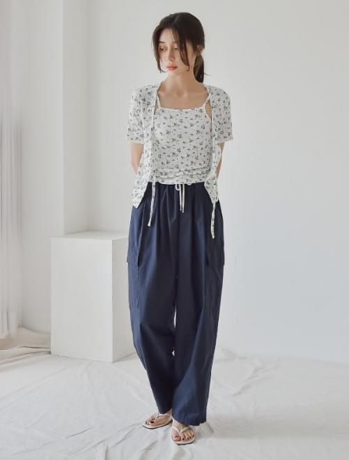 Cargo wide pants