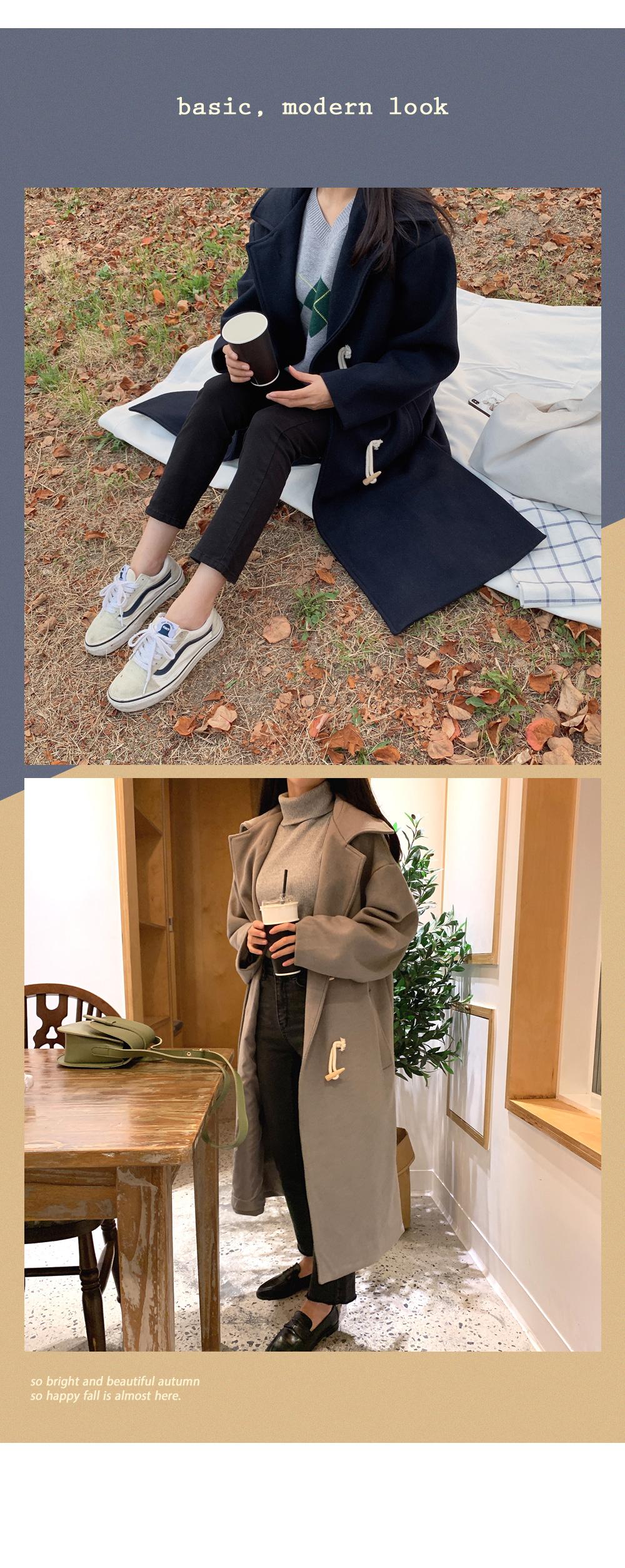Quality jackpot! Basic Wool Tteokbokki Coat O#YW319