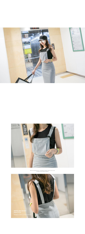 Lobby's Slim Fit Suspender Dress #34641