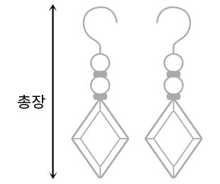 Unbal long bar earrings #84773