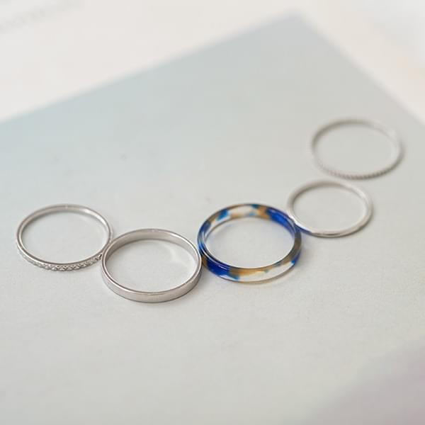 Daily Homica 5 SET Ring #86152
