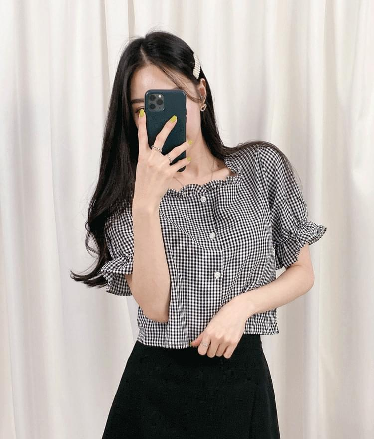 Rudy check blouse