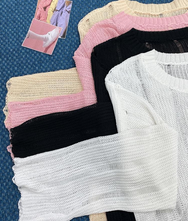 Round summer knit 針織衫