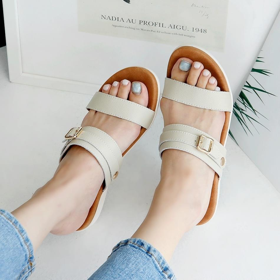 Ezelle leather slippers 5 cm