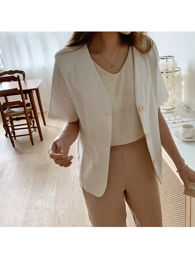 Eight Linen No Color Jacket