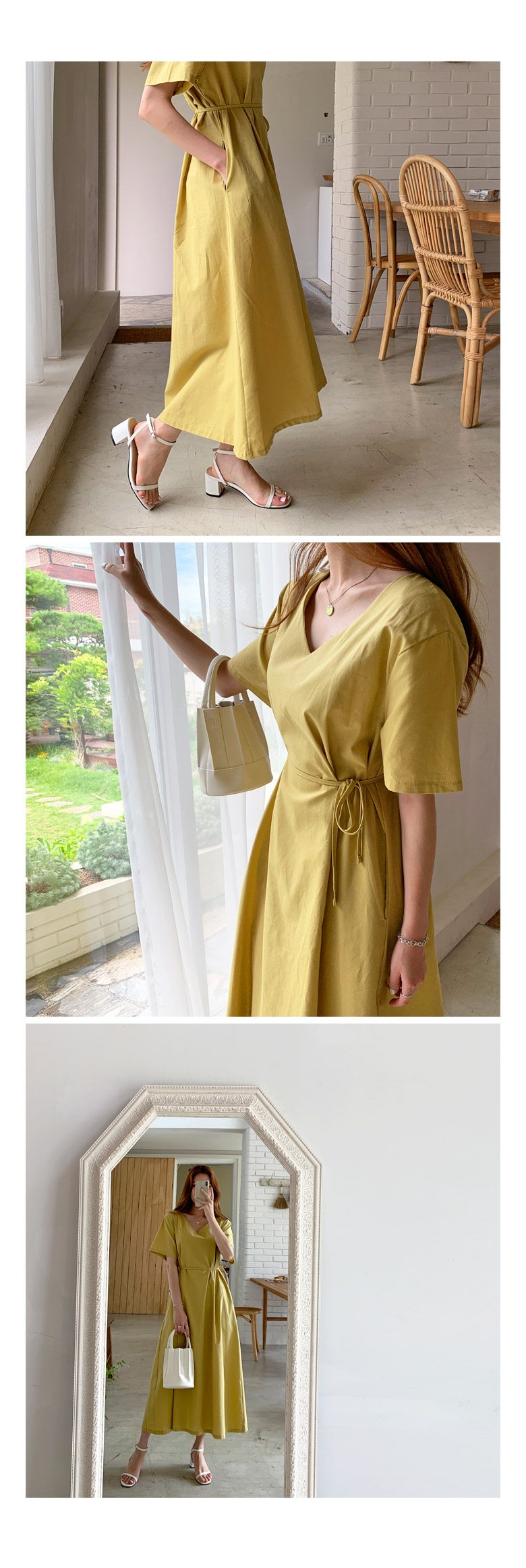 Chloe Linen Flare Long Dress