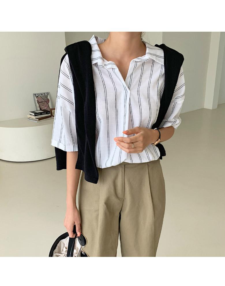 Cozen striped short sleeve shirt