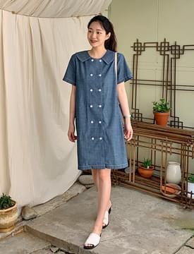 Sailor Double Denim Mini Dress