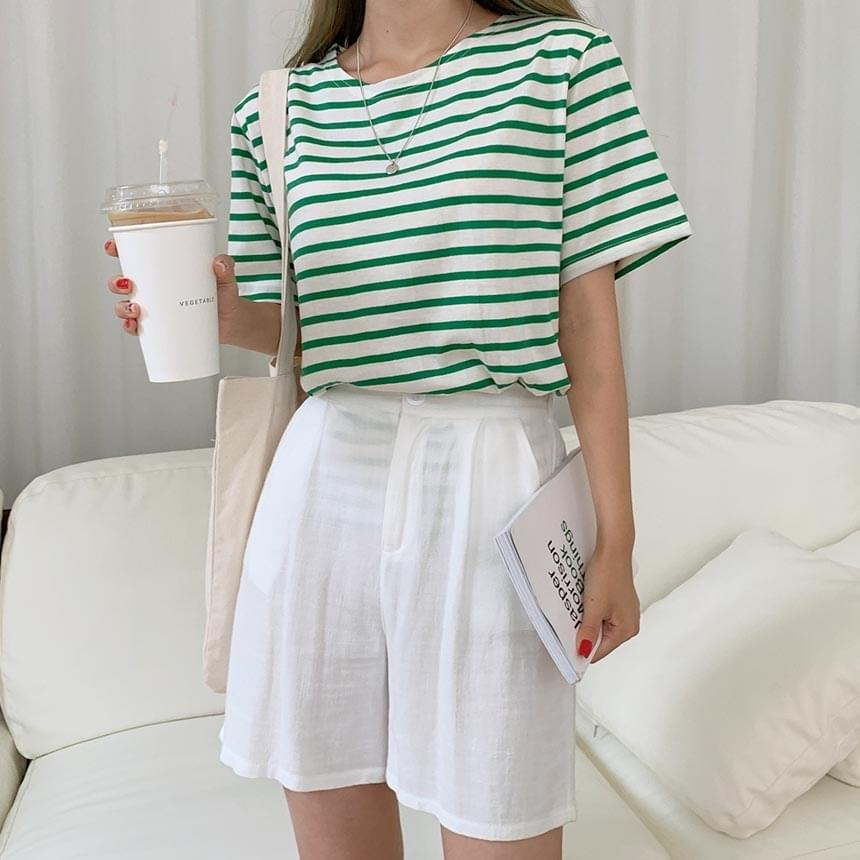 Great Colors Striped Short-sleeved T-shirt