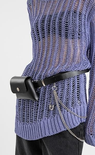 Mini chain belt bag