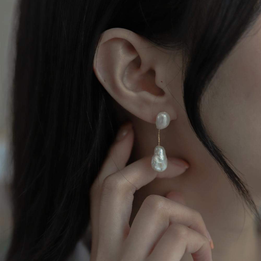 9704 Natural Freshwater Pearl Drop Earrings