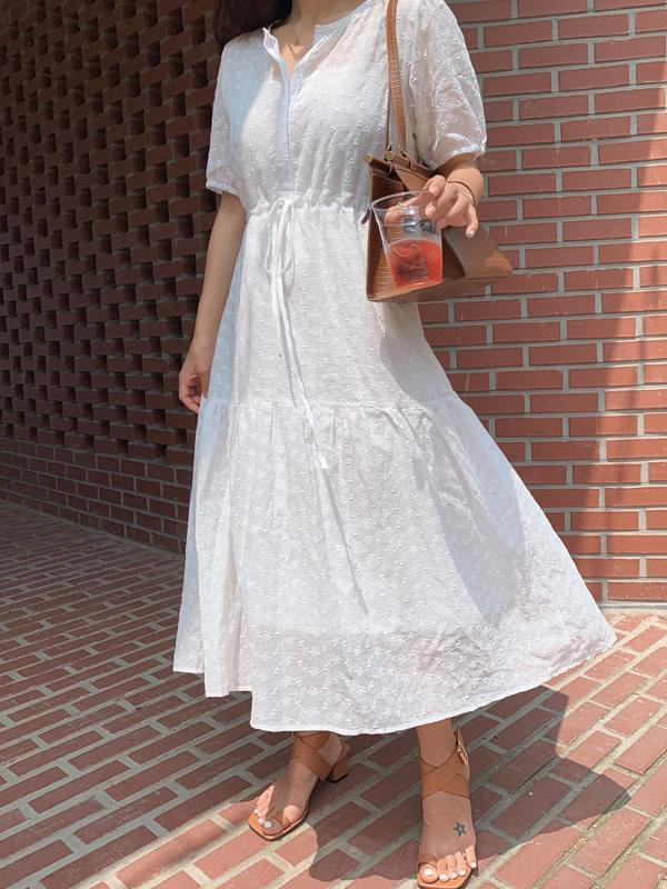 《Recommended for pregnant women》 Marmalade♥.Pure white eyelet dress